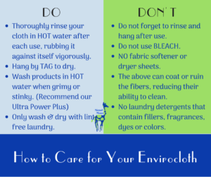 How to Care for Norwex Envirocloth